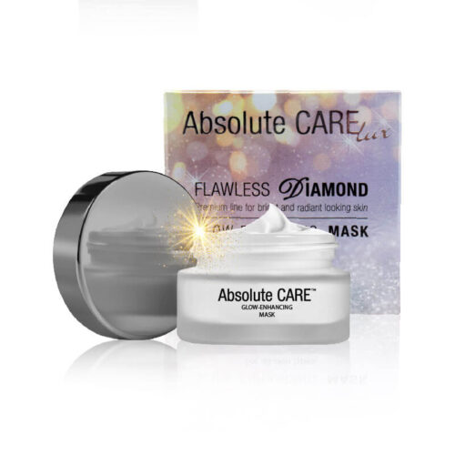 Purple packaging and open jar od diamant cosmetics on white backround