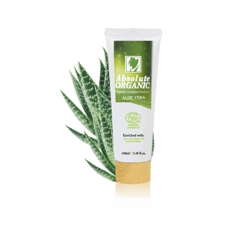 foot cream Absolute Organic with Aloe Vera beside