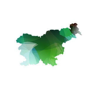 green and blue icon for slovenia map